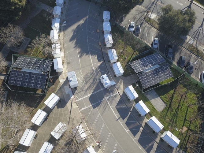 Powering an Emergency Shelter for 25 Unhoused Families in San Jose
